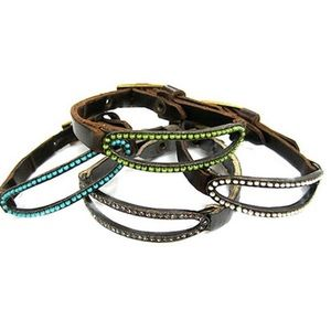 Jewelry - Open Oval Seed Bead & Leather Bracelets,NWT